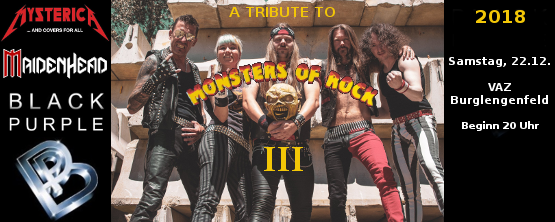 A Tribute To Monsters Of Rock 2018